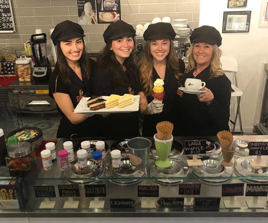 Theresa, Jamie, Jessica & Diane - made in rome gelato